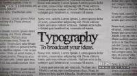 机器AE模版下载-超酷的字幕特效报纸上的文字