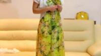 夏季新款 真丝长裙镶钻连衣裙波西米亚度假沙滩度假长裙100桑蚕女