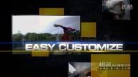 机器AE模版下载-色块体育栏目包装模板