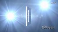 机器AE模版下载-闪光灯下的方形LOGO