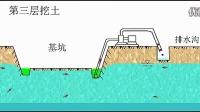 集水井降水施工流程【大太阳建筑网flash动画演示】_标清