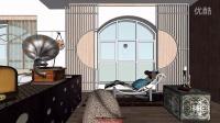 【住宅设计】第二套现代中式风格方案模型视频