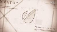 建筑蓝图绘制Logo标志动画—汇同资源网