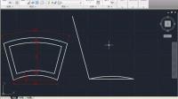 cad 教程 实例 绘制扇形窗户