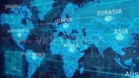 高科技世界地图全球定位连接企业宣传片常用AE模板—汇同资源网