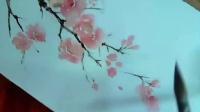 [手绘水彩过程]半透明的水彩纸!简单的绘制花朵!