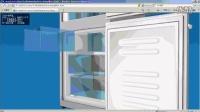 基于flash的3D引擎渲染的交互冰箱;真实感超强。