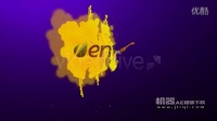 机器AE模版下载-彩色画笔 动画效果LOGO