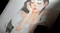 【半透明】水彩人物绘画过程