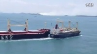 Bulk Carrier and Cargo Ship Collide in the Straits of Singapore_《360p》