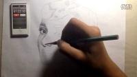 奥黛丽·赫本 铅笔素描 延时摄影