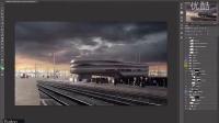 超强的blender加PS合成技术Timelapse - CTD Railway
