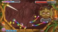 wiiu星之卡比超级彩虹 100%攻略 第2世界2-boss