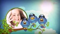 AE模板1777 有趣的小鸟动画儿童相册模板