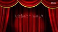 AE模板2568 舞台红幕布卡通节目介绍AE模板