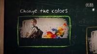 AE模板2569 学校黑板粉笔手写介绍宣传AE模板