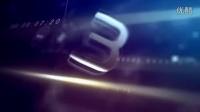 AE模板2579-三维玻璃质感新年倒计时logo展示AE模板