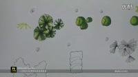 城规马克三)1平面植物马克上色及灌木