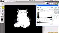 [PS]60.[爱尚学院]PhotoShop Cs5 教程通过色阶调整配合通道将毛茸茸的猫咪抠出