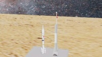 3dmax火箭飞天登陆火星作品