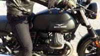 国内实拍Moto Guzzi V7 Stone 发车视频