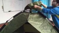 迪威诺自动帐篷搭建,顶盖布地钉防风绳使用
