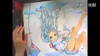 水彩彩铅上色 动漫手绘2漫画教程_标清