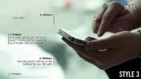 AE模板:手机发短信彩信文字对话窗口气泡效果