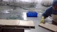 山东诸城博威新式鱼豆腐抹盘线视频|鱼豆腐成套设备