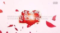 H03 《我们结婚啦》唯美浪漫玫瑰花瓣婚礼开场片头AE模板