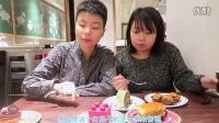 《中国人吃全球美食》之香港小情侣九龙城吃甜品,抹茶蛋糕、巧克力慕斯、奶油千层