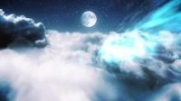 AE模板-云层月亮梦工厂效果粒子光线穿梭 Clouds in a Night Sky