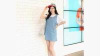 2015韩版大码宽松牛仔连衣裙女夏季牛仔背带裙吊带半身裙短裙