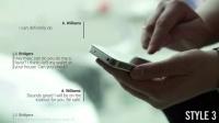 AE模板:手机发短信彩信文字对话窗口气泡效果 VideoHive Text Messages