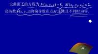 091003   曲面的切平面与法线的定义