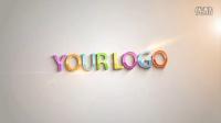 LG310-3D条块图形翻转汇聚LOGO标志AE模板