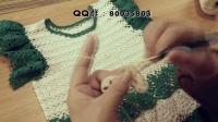 明月的棒针艺术之紫雀飞袖春秋背心裙{视频2}小飞袖的编织方法