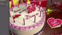 AE模板:生日蛋糕庆祝祝贺视频片头 Videohive Happy Birthday!