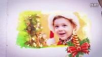AE166 温馨唯美浪漫雪白圣诞风格怀旧电子相册AE模板