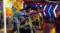 新野动岚美女教练激情动感单车片段