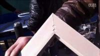 视频: 辽宁打角机配件 十字绣框拼角机器 钉角机多少钱一台13