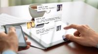 10种不同的短信微信聊天气泡对话设计弹出动画带头像-ae模版
