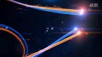 1511漂亮空间彩条粒子运动AE模版