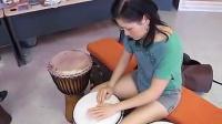 美女鼓手自编非洲鼓鼓曲_标清