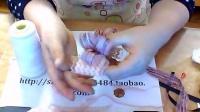 唯美 粉色 大蝴蝶结发卡制作教程 头花 发饰 制作分享