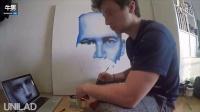 国外网友用手绘肖像方式悼念保罗沃克