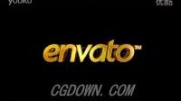 实用的黄金金色字体片头logoAE模板来自西橘网