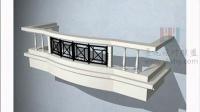 园林景观设计3dmax基础学习教程 阳台的制作01
