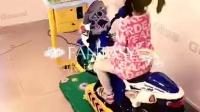 谷米动漫2015新款3D摩托液晶屏电动摇摇车摇摆机儿童投币赛车游戏