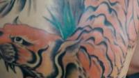 后背老虎纹身图案,以前好多人喜欢